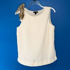 J.Crew Drapey Tank with Shoulder Bow Size 6